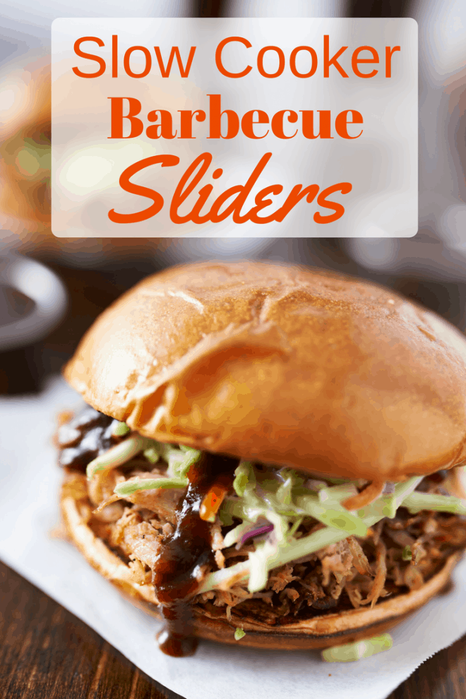 Slow Cooker Barbecue Sliders