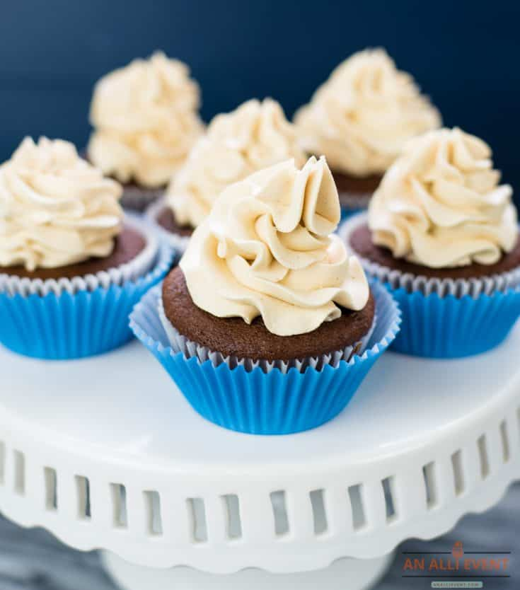 Peanut Butter Cupcakes are ready to serve!