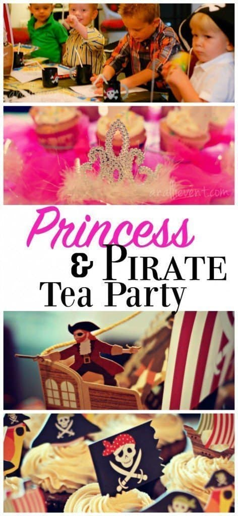 Decor, Ideas and more for the best Princess and Pirate Party.