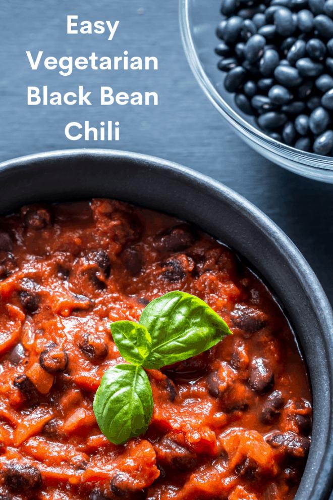 Easy Vegetarian Black Bean Chili