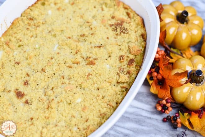 Mom's Cornbread Dressing