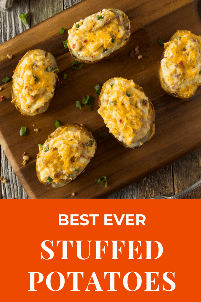 Best Ever Stuffed Potatoes are a favorite Thanksgiving side dish
