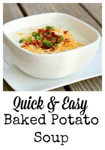 Quick & Easy Baked Potato Soup