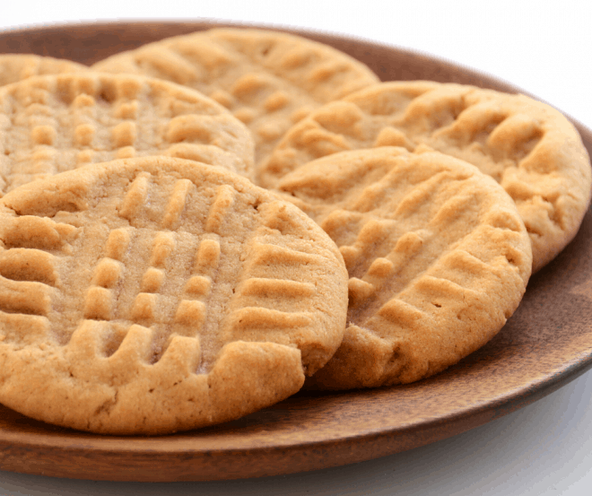 Peanut Butter Cookies on Brown Tray