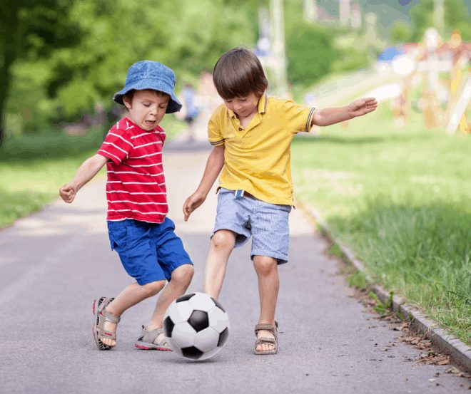 Children Playing Together - Manners Rule