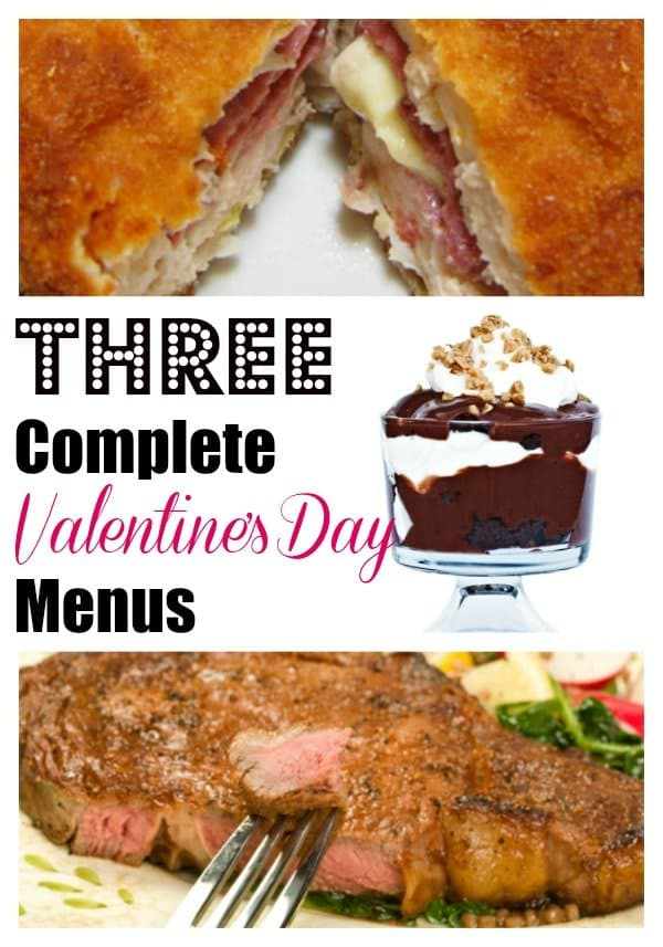 Are you having a romantic night in to celebrate Valentine's Day? I've got three complete no-fail menus that are swoon worthy!