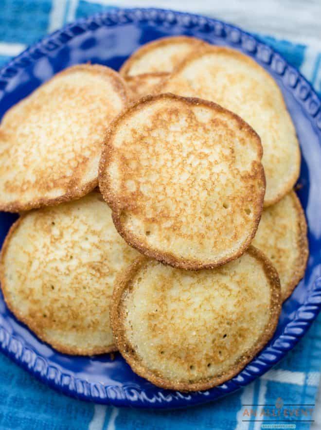Platter of Grandma's Famous Hoe-Cakes