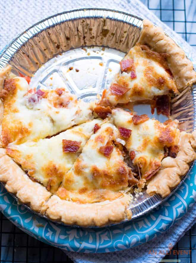 Slices of Baked BLT Pie