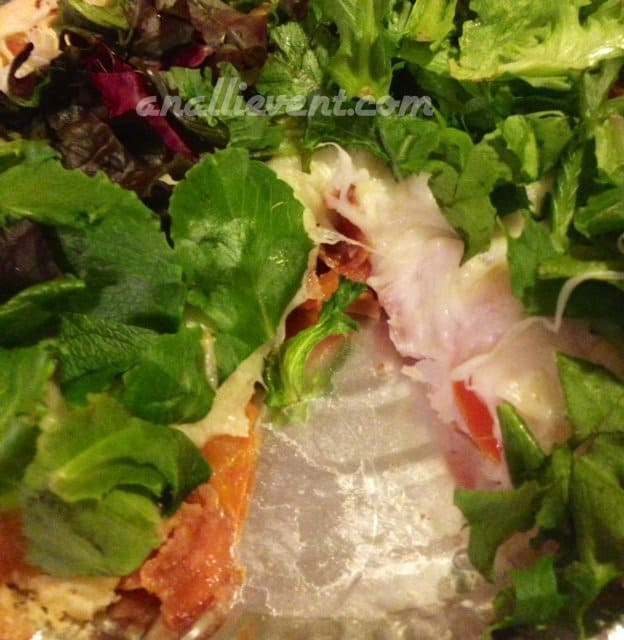 Step 5 - After baking - layer of lettuce