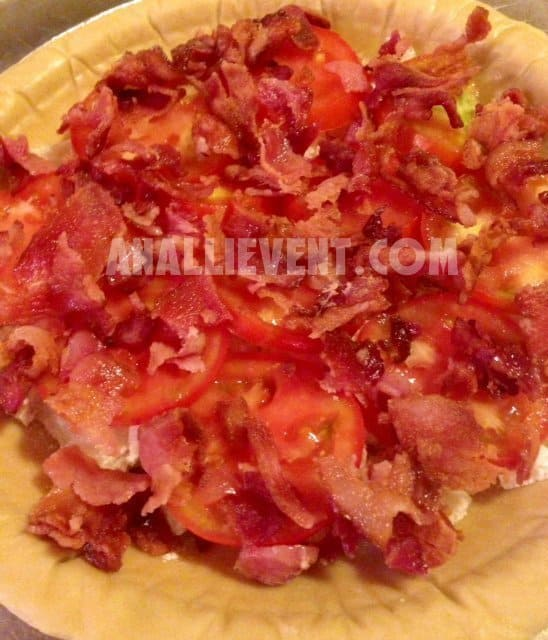 layer of bacon