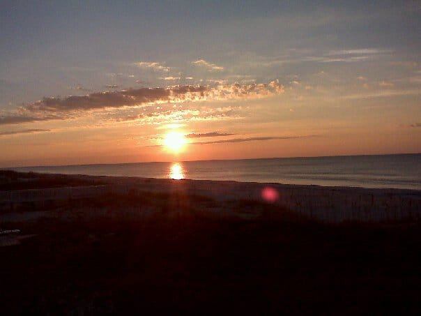 View of St. George Island Sunset