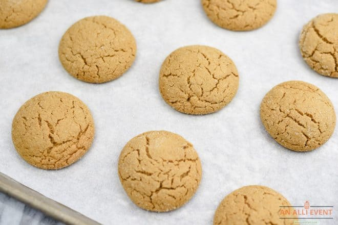 Gingersnap Cookies - Right After Cooking