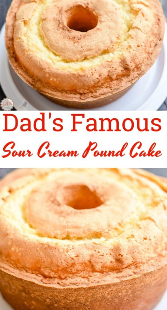 My dad makes the best sour cream pound cake in the world! He's 84 and he's famous for his pound cake! Just one bite and you'll know why.