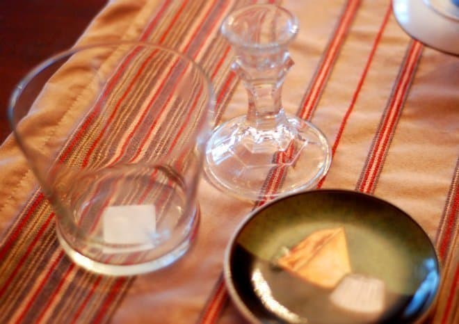 Materials for DIY Dollar Store Cupcake Stand - cheese plate, glass vase, glass candle holder
