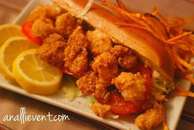 Shrimp Po' Boy & Creole Mayo