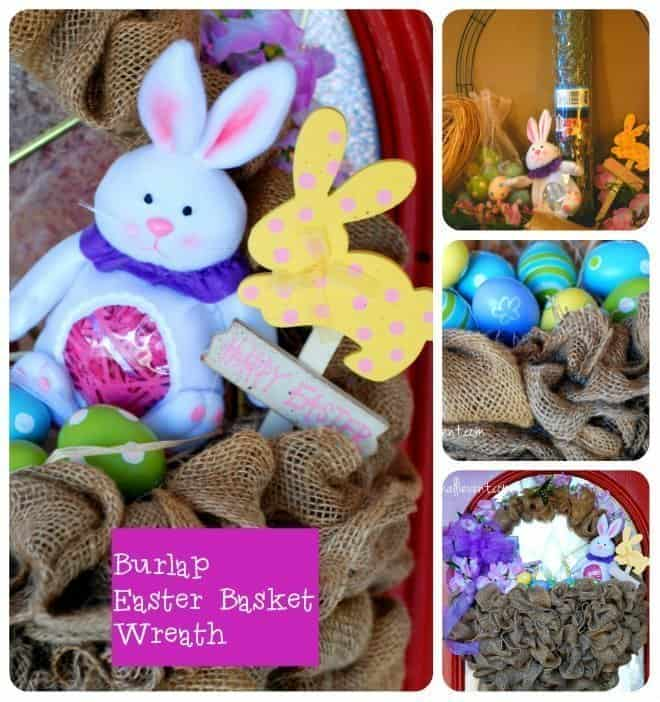 Easter-Basket-Wreath-Collage #Easter