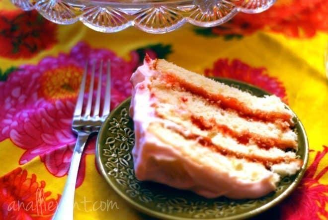 lemon dessert recipes - strawberry-lemonade-layer-cake