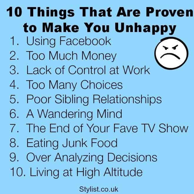 Ten Things That Make You Unhappy