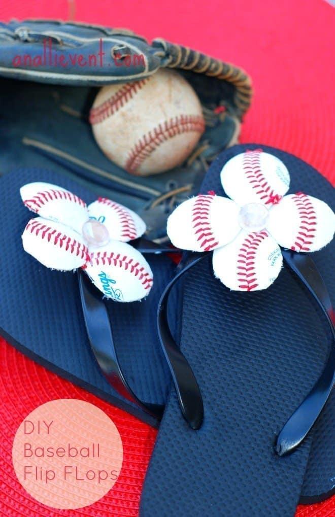 DIY Baseball Flip Flops
