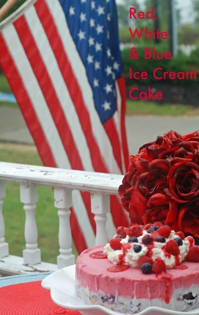 Red, White & Blue Ice Cream Cake