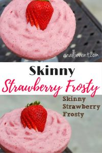 My Skinny Strawberry Frosty is thick, creamy and delicious. It's also low in fat and calories. Pass the spoon!
