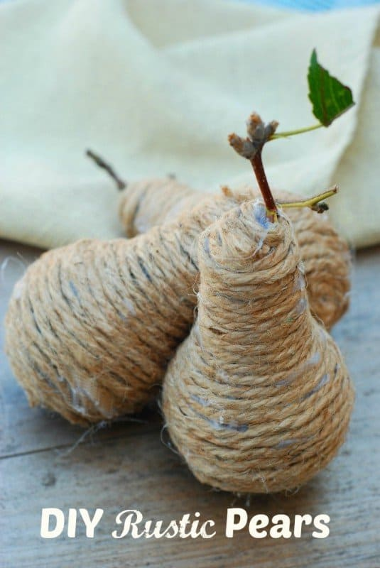 Rustic Pears Made From Lightbulbs