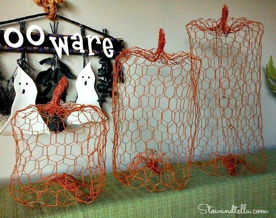pumpkin from chicken wire