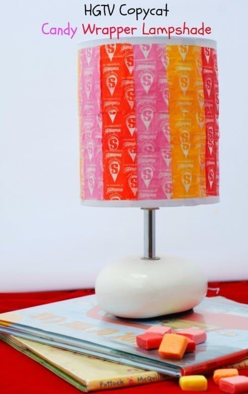 Candy Wrapper Lampshade