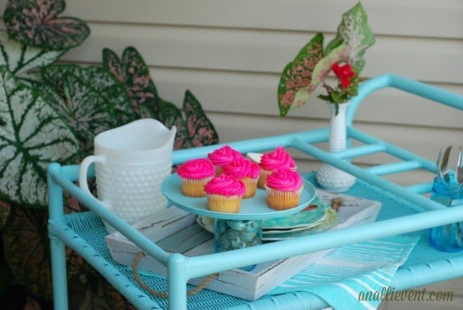 Tea Cart Redo - from drab to fab!