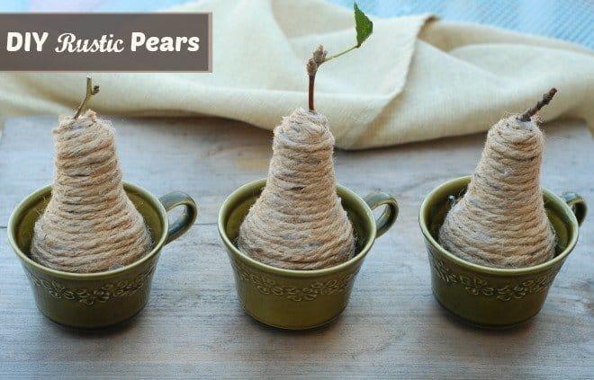 DIY Rustic Pear
