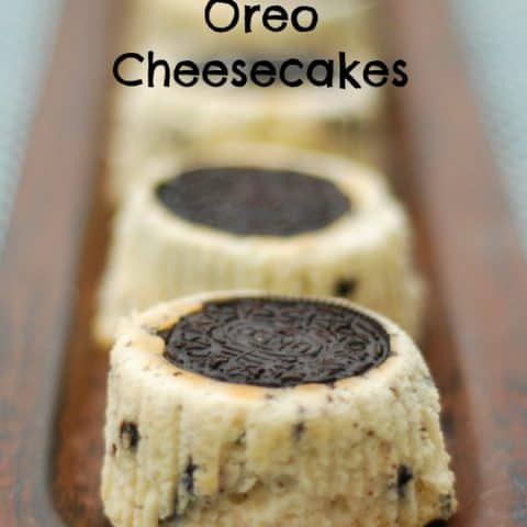 Mini Upside Down Oreo Cheesecakes