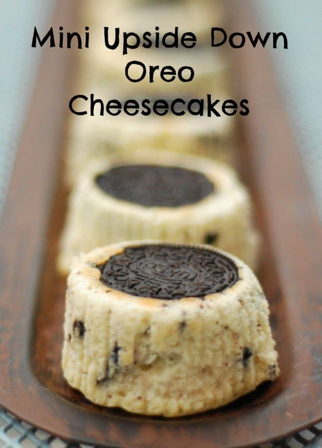 Upside Down Oreo Cheesecakes