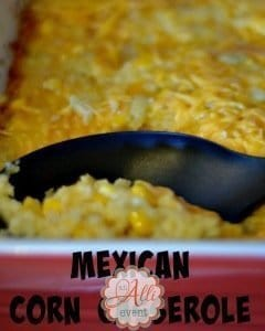 Mexican Corn Casserole is the ultimate comfort food!