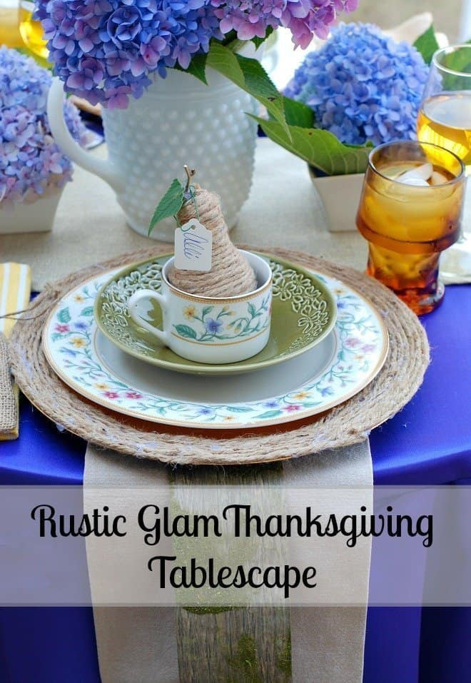 Rustic Glam Thanksgiving Day Tablescape