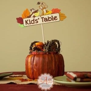 Kids' Table Thanksgiving Centerpiece