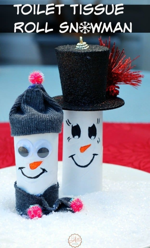 Easy Toilet Tissue Roll Snowmen
