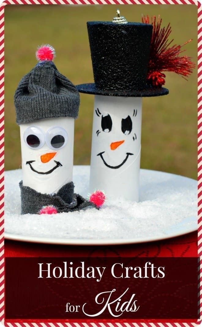 Holiday Crafts for Kids - Toilet Paper Snowman