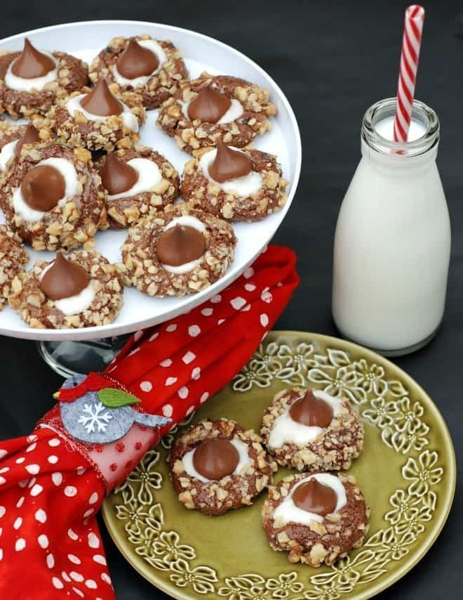 Holiday Cookies - Chocolate Thumbprint Cookies