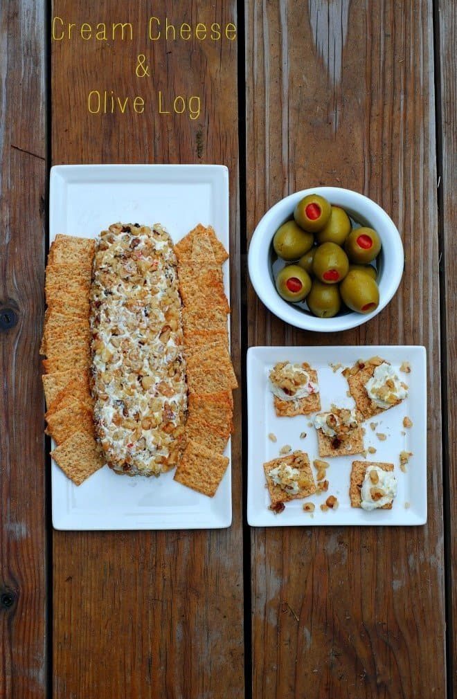 Satisfy your olive cravings with my cream cheese and olive log.