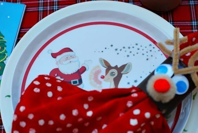 Rudolf the Red-Nosed Tablescape