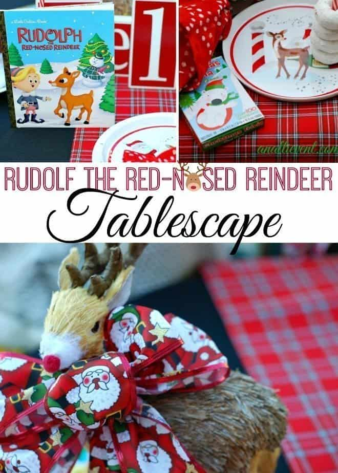 Rudolf the Red-Nosed Reindeer Tablescape