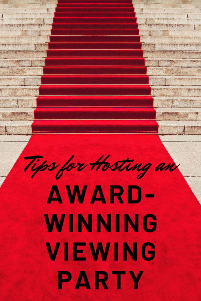 red carpet runway for award winning viewing party