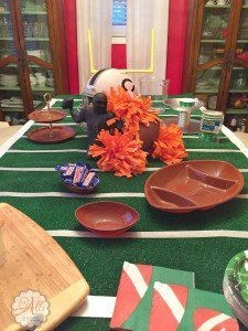 Game Day Tablescape