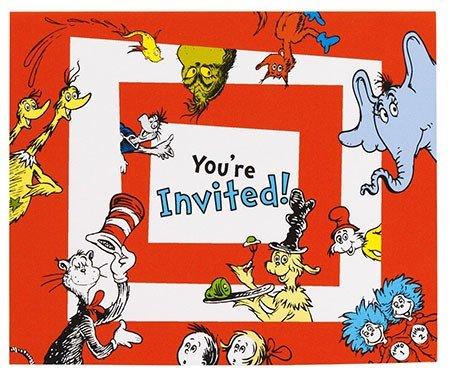 Dr. Seuss Party Invites