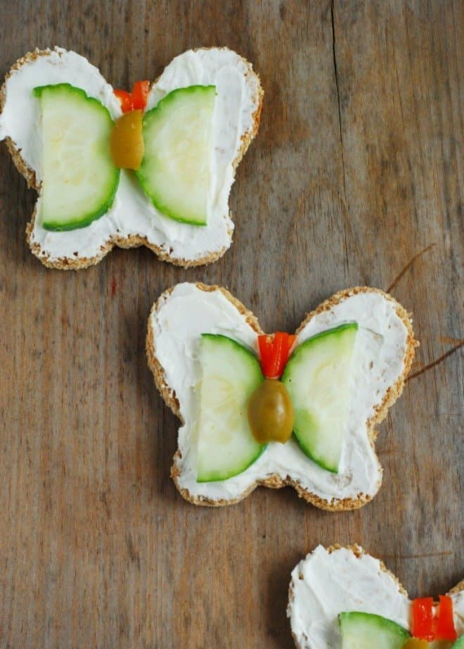Butterfly Shaped Tea Sandwiches