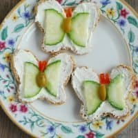 Butterfly-Shaped Tea Sandwiches