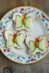 Pineapple-Shaped Tea Sandwiches - Butterfly Tea Sandwiches
