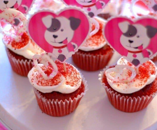 Cupcakes for Capri Sun Valentine's Day Party