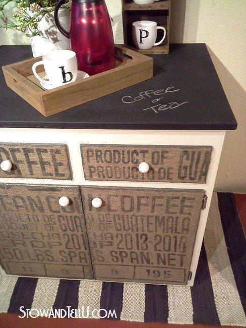 DIY Coffee Sack Cabinet