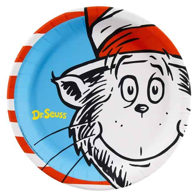 Dinner Plates for Dr. Seuss Party